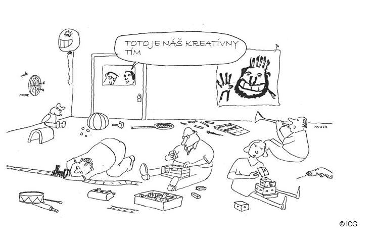 Cartoon: Toto je náš kreatívny tím