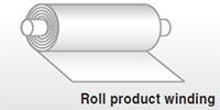 Roll product winding