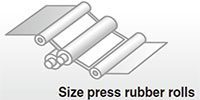 Size press rubber rolls